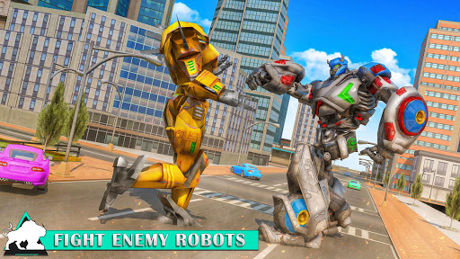 Flying Tiger Robot Attack: Flying Bike Robot Game apktram screenshots 8