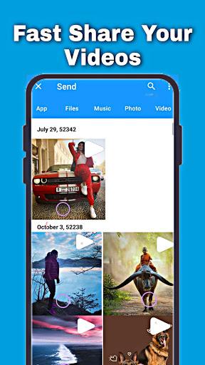 Fast File Transfer And Sharing Music & Videos App apktram screenshots 5