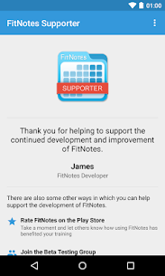 FitNotes Supporter 1