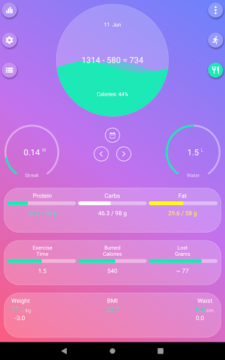 Calorie Counter - EasyFit free 4.0 Screenshots 5