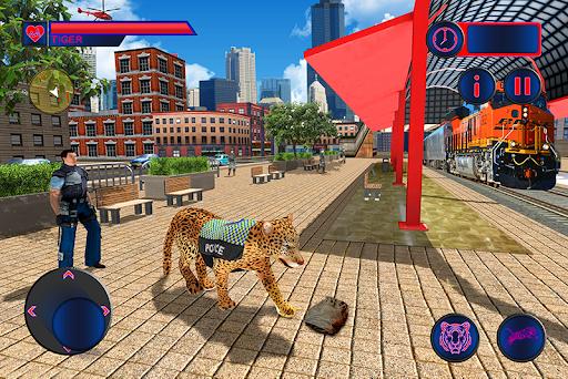 Police Tiger Chase Simulator: City Crime Apkfinish screenshots 4