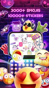 Neon Messenger for SMS – Emojis, original stickers 2