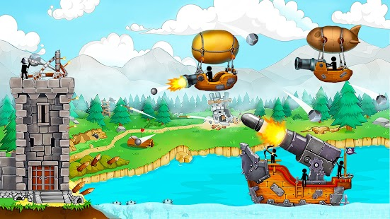 Katapult 2: Castle Clash mit Stickman Pirates Screenshot