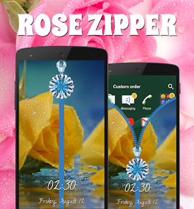 Rose Zipper Lock Screen For Pc | How To Install – (Windows 7, 8, 10 And Mac) 2