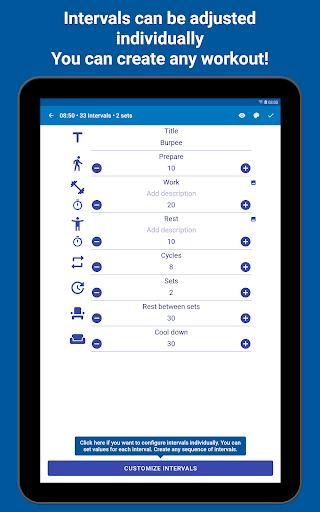 Tabata Timer: Interval Timer Workout Timer HIIT 5.2.1 Screenshots 14
