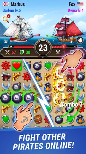 Pirates & Puzzles - PVP League apktreat screenshots 1