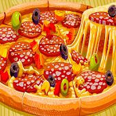 icono Pizza para hornear - Juego de cocina