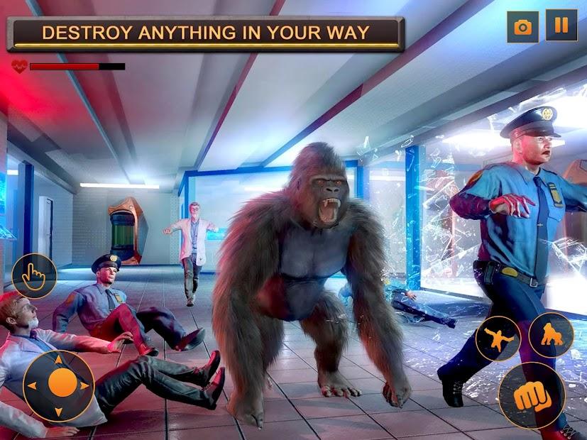 Screenshot 10 de Angry Monster Gorilla - Godzilla King Kong Games para android