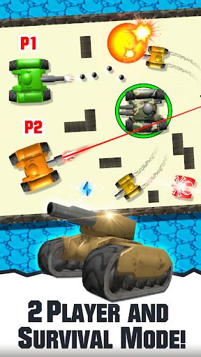 2 player tank wars screenshot 1