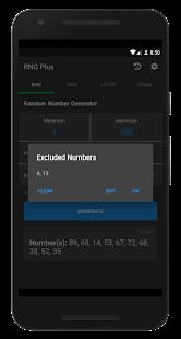 Random Number Generator Plus - Dice, Lotto, Coins