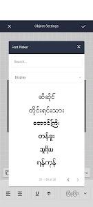 Myan: Add Myanmar Font Styles On Photo 3.3.5