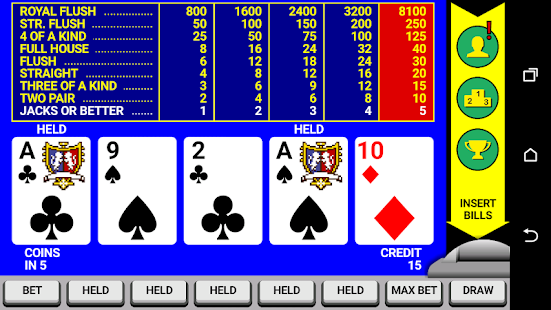 Video Poker Classic Double Up 6.20 screenshots 1