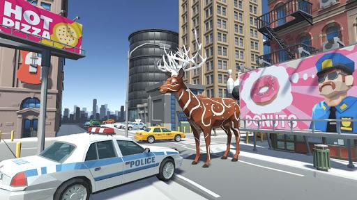 Télécharger Gratuit cerf simulateur animal ville Deer Simulator APK MOD  (Astuce) screenshots 1