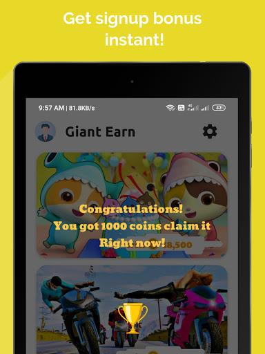 Giant Earn - Earn Money Daily 2.0 screenshots 14