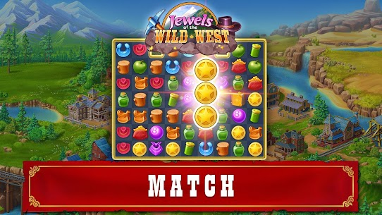 Jewels of the Wild West: Match-3 Gems Game 8
