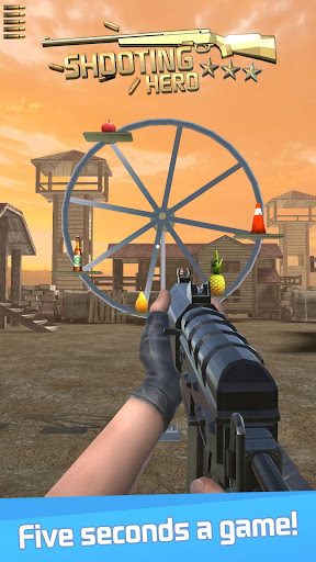 Shooting Hero: Gun Shooting Range Target Game Free 3.0 screenshots 1