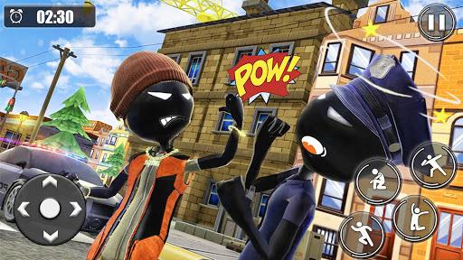 Stickman Rope Hero : Gangstar Mafia APK MOD (Astuce) screenshots 1