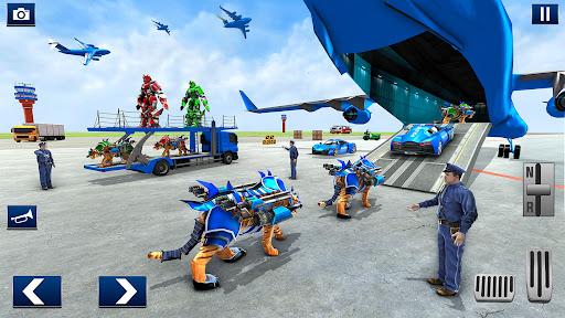 US Police Tiger Robot Car Game screenshots 2