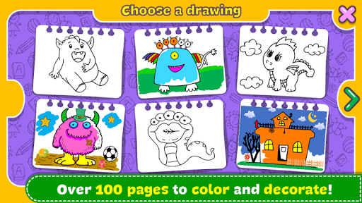 Fantasy - Coloring Book & Games for Kids  screenshots 3