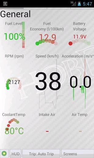 HobDrive OBD2 ELM327, car diagnostics, trip comp 1.6.12 Screenshots 7