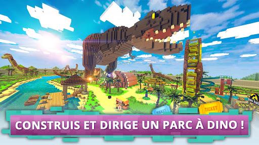 Télécharger Dino Theme Park Craft: Construis Parc de Dinosaur  APK MOD (Astuce) screenshots 1