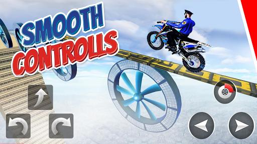 Police Bike Stunt Games : 3D Mega Ramp Stunts Game  screenshots 8
