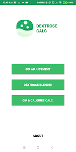 Dextrose Calc - GIR & Calories Calculator