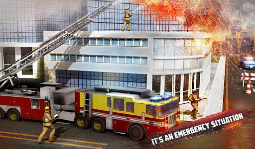 ud83dude92 Rescue Fire Truck Simulator: 911 City Rescue  screenshots 6