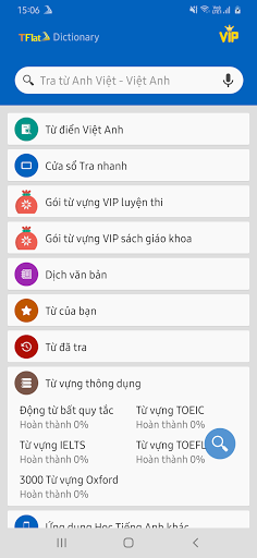 Dich tieng Anh - Tu dien Anh Viet TFlat android2mod screenshots 6