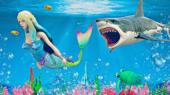 mermaid simulator 3d - sea animal attack games hack