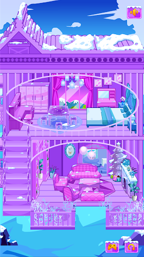 Frozen Dollhouse Design,Ice Dollhouse for girls android2mod screenshots 8