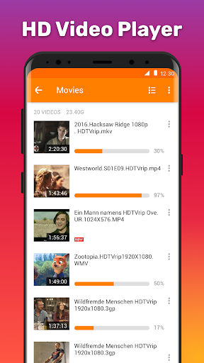 HD Video Player 1.1.3 Screenshots 1
