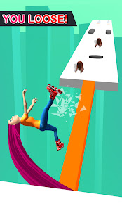 Hair runner challenge game 3d body rush race hairs