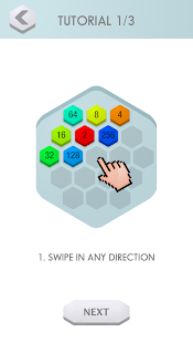 2048 Hex - challenging puzzle game