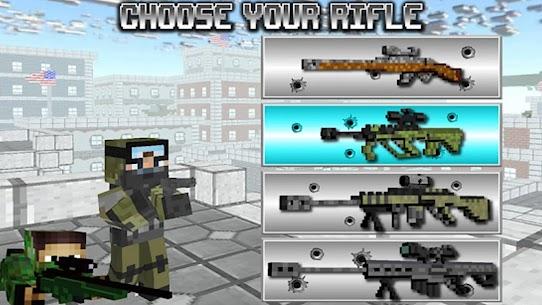 American Block Sniper Survival MOD (Unlocked) 1