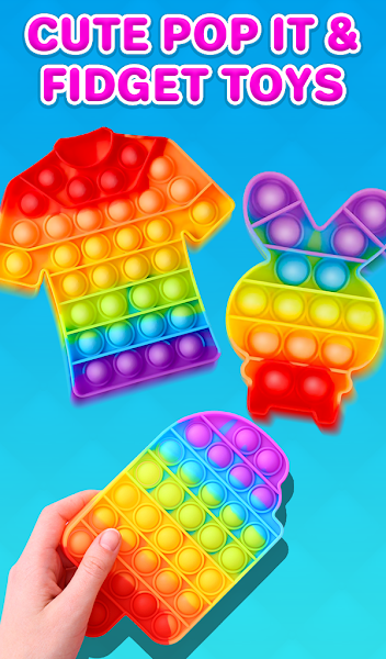 Pop It Fidget 3D - Antistress Calm - Pop It toy 3D
