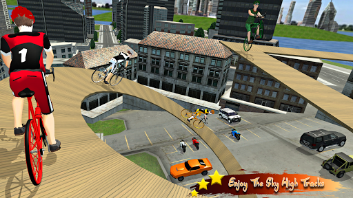 Real Bicycle Racing : BMX  Bicycle game 2021 apkslow screenshots 5