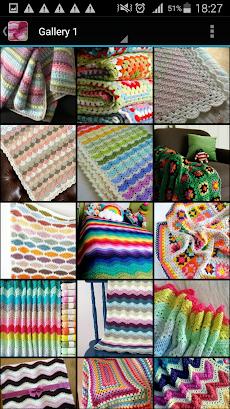 かぎ針編みの毛布のおすすめ画像1