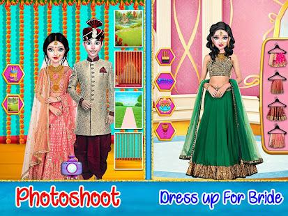 結婚ゲームを手配するインドの結婚式の愛