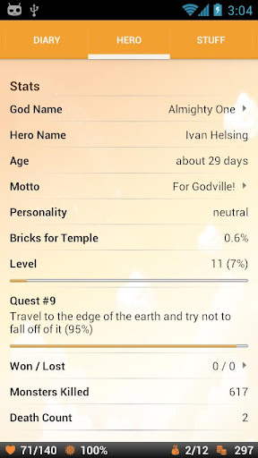Godville filehippodl screenshot 3