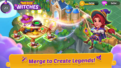 Merge Witches - merge&match to discover calm life 2.0.0 screenshots 1