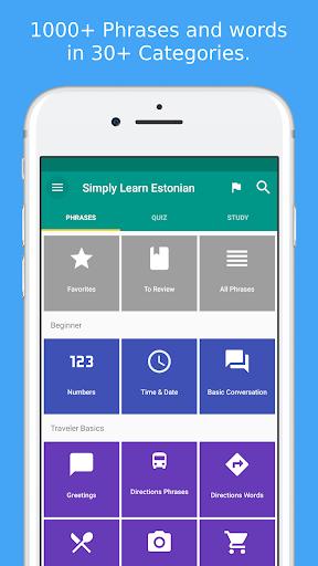 Simply Learn Estonian modavailable screenshots 1