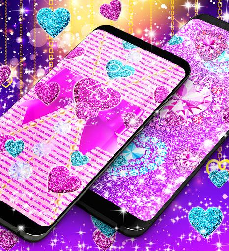 2021 Glitter hearts live wallpaper android2mod screenshots 7