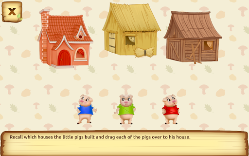 Three Little Pigs - Fairy Tale with Games apkdebit screenshots 8