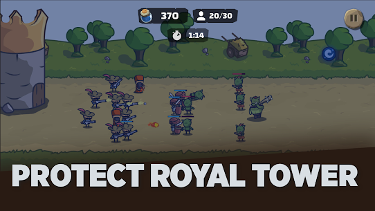 Tower Royale Stick Kingdom War Mod Apk 1.2 (Inexhaustible Currency) 2