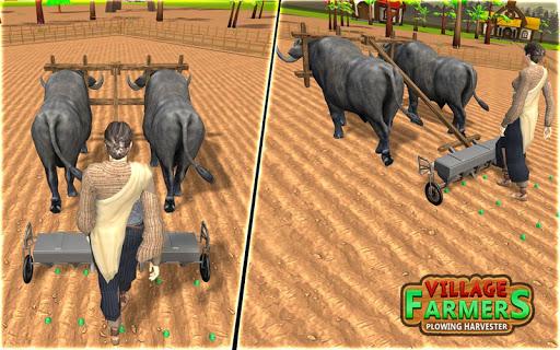 Village Plow bull Farming  screenshots 3