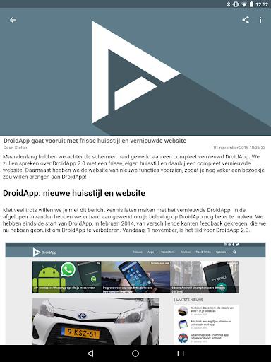 DroidApp - Android nieuws  Screenshots 8