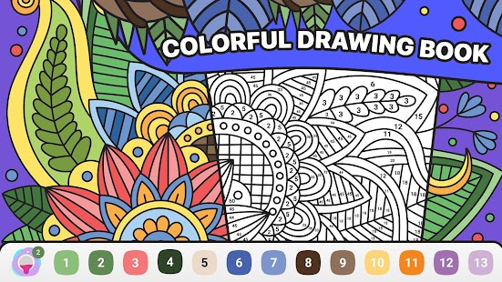 BATIQ 🎨 Coloring book by number | Color Therapy Screenshot