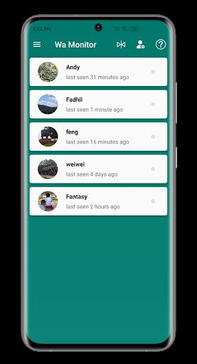 Wa Monitor - Online Last Seen Tracker For WhatsApp Apk 1.7.5 screenshots 1