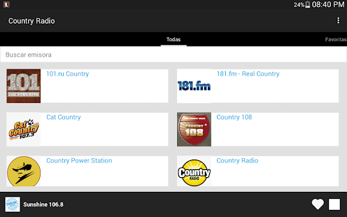 Country Radio Screenshot